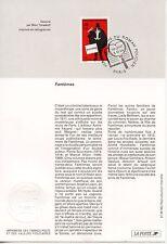 FDC / PREMIER JOUR / HEROS FRANCAIS DU ROMAN POLICIER / FANTOMAS PARIS 1996