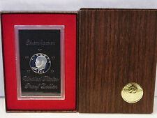 1972-S Eisenhower Ike Proof UNC 40% Silver Dollar $1 Coin w/Brown Box