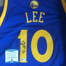 100% Authentic Adidas Swingman Warriors DAVID LEE Signed Jersey BAS Beckett COA