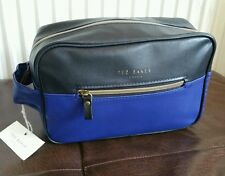 TED BAKER London Mens BLACK BLUE GOLD Toiletry Wash Bag Holiday Gym Gift NEW