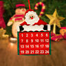 Père Noël Calendrier de L'Avent Poches Décoration Tenture Cadeaux Fête DIY SD