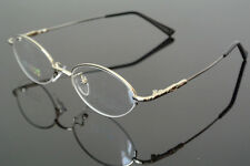 Memory Titanium Silver Half Rim Flexible Eyeglass Frame Glasses Spectacles Rx