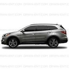 BODY SIDE Moldings PAINTED With CHROME Insert For: HYUNDAI SANTA FE XL 2013-2017