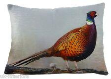 43.2cmx33cm FAISÁN Felpilla Aterciopelada Cojín Evans Lichfield Pájaro Fauna