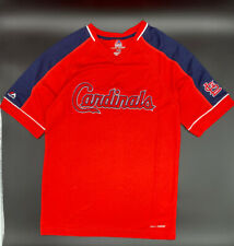 Majestic St Louis Cardinals Men Size XL X-large Red Lead Hitter Jersey Shirt