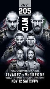 UFC 205 Eddie Alvarez vs Conor McGregor Art Silk Poster Print 17x30 24x42inch