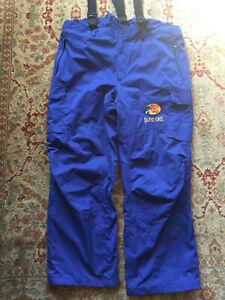BASS PRO SHOPS ~ HPR Bone-Dry Lightweight Waterproof Rain Pants ~ 2XL ~ Blue ~EC