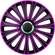 Radblenden Radkappen Le Mans pink black schwarz 15 Zoll Radzierblende