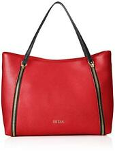 GUESS WOMENS SHOPPING SHOULDER BAG HANDBAG TOTE SATCHEL MEDIUM LARGE RED NEW 366