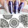 Born Pretty Rectangle Nail Art Stamping Plate Lace Image Stamp Template L006