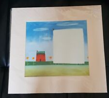 Large Mackenzie Thorpe sheep and house new in cellophane mounted ready to frame
