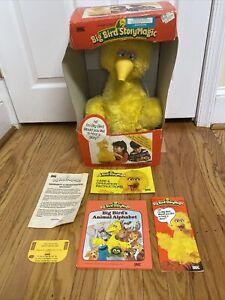 Vintage 1986 Ideal Big Bird Story Magic Talking Sesame Street Book Box Paperwork
