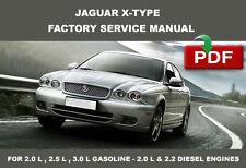 JAGUAR X TYPE 2001 2002 2003 2004 2005 2006 2007 2008 2009 SERVICE REPAIR MANUAL