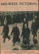 King Edward VIII Leads The Empire's Mourners+Dukes Gloucester, Kent, York 1936