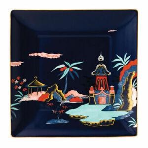"Wedgwood Wonderlust Blue Pagoda Tray Trinket New # 40023908 5.70"""