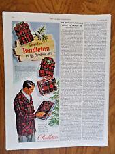 1952 Pendleton Wool Shirts Ad   His Christmas Gift