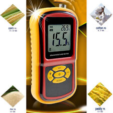 Grain Moisture Tester Corn Temperature Amp Humidity Meter With Backlit Display