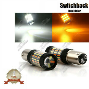 Switchback 1157 2357A LED Turn Signal Light Bulbs Front For 1993-2000 GMC Yukon