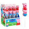 PEPPA PIG MARSHMALLOW POPS LOLLIPOPS PINK CANDY SWEETS - FULL BOX - 16 COUNT