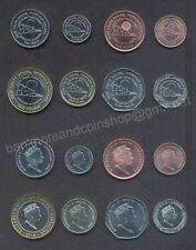 GIBRALTAR COIN SET 1+2+5+10+20+50 Pence 1+2 Pounds 2018 CALPE HOUSE UNC LOT of 8