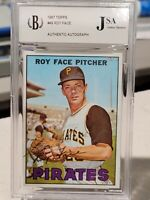 1967 ROY FACE TOPPS ON CARD AUTOGRAPH SLABBED JSA COA PITTSBURGH PIRATES #49
