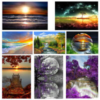Full Drill DIY 5D Sea Beach Moon Diamond Painting Embroidery Cross Stitch Kit