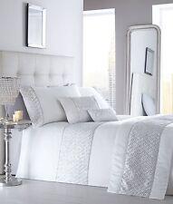 King Size duvet cover set Brillo Blanco Diamante Detalle De Lentejuelas Ropa de cama de lujo