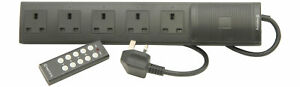 Wireless Remote Controlled Sockets, 5-Way Extension Lead with Remote Control