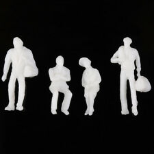 100pcs Scale 1:200 Gauge Model Railway Unpainted White Figure People