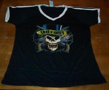 VINTAGE STYLE WOMEN'S TEEN GUNS N' ROSES SKULL T-shirt XL NEW