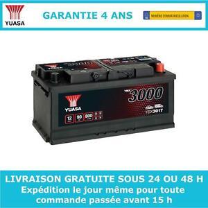 Yuasa YBX3017 Batterie de Démarrage 12V 90Ah 800A Garantie 4 Ans