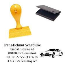 Adressenstempel « AUTO 3 » mit Kissen - Firmenstempel - KFZ Werktstatt