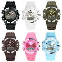 New Luxury Women Men Sport Waterproof LED Digital & Analog Display Wrist Watch
