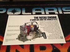 79-80 SKI-DOO Snowmobile Rotax Engine Poster vintage sled L/C motor