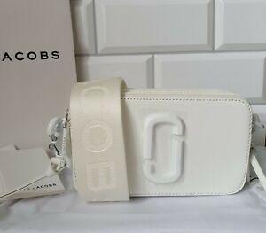 MARC JACOBS Snapshot Monochrome DTM Small Camera Bag White 100% Genuine New