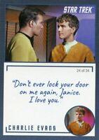 Star Trek TOS Archives & Inscriptions card #18 Charlie Evans Variation 24 of 34