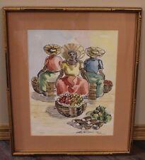 Framed Watercolour by famed Jamaican artist, Errol Allen
