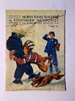 1938 SMU Mustangs vs N Texas State Teachers College Eagles Football Program FAIR