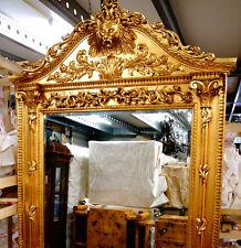 SUPERFORMAT STANDSPIEGEL ca.270x170cm WANDSPIEGEL aus SCHLOSS LÖWEN SPIEGEL GOLD