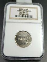 2001 D North Carolina State Statehood Quarter Coin MS67 NGC W Rare W Holder