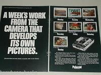 1969 POLAROID 250 2-page advertisement, Polaroid 250 instant camera a weeks work