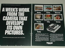 1969 POLAROID 250 2-page advertisement, Polaroid 250 instant camera a weeks work
