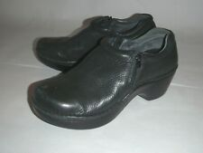 Ariat women's 9.5 black side zip leather clogs shoes