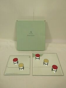 PartyLite P7035 Mirrored Coaster Set *Candles Not Included*  P66 Z2