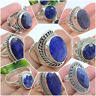 925 SOLID STERLING SILVER RINGS IN SAPPHIRE CORUNDUM ALL SIZE & SHAPE AVAILABLE