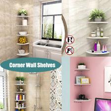 Corner Wall Shelf Shelves White Floating Mounted Storage Rack Display Home Decor