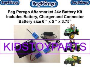 24v KIT for Power Wheels Peg Perego 12V Cars (Battery, Charger & Car Plug)