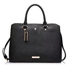 Dune London Tillia Black Textured Grab Bag Tote Bag Handbag New with Tags
