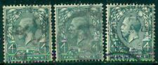 GREAT BRITAIN SG-351, SCOTT # 165, USED, FINE, 3 STAMPS, GREAT PRICE!