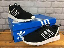 Adidas Para Hombre UK 7 UE 40 2/3 Blanco Negro ZX Flux ADV Zapatillas